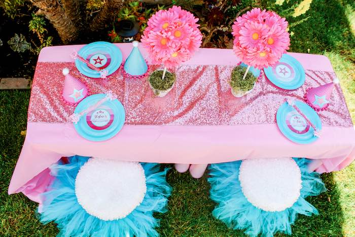 Kid Tabletop from an American Girl Doll Inspired Birthday Party via Kara's Party Ideas | KarasPartyIdeas.com | The Place for All Things Party! (5)