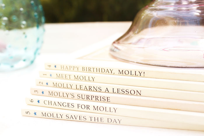 Stacked American Girl Books from an American Girl Doll Inspired Birthday Party via Kara's Party Ideas | KarasPartyIdeas.com | The Place for All Things Party! (3)