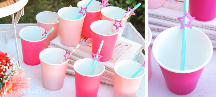 Cups from an American Girl Doll Inspired Birthday Party via Kara's Party Ideas | KarasPartyIdeas.com | The Place for All Things Party! (42)