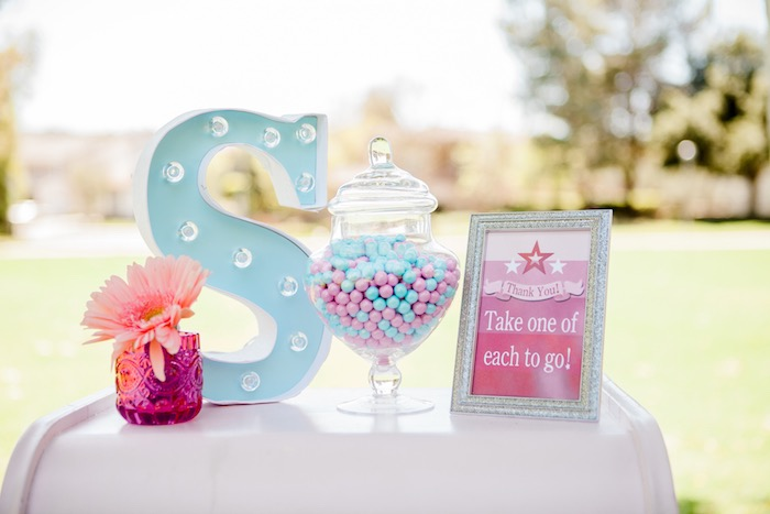 Decor Details from an American Girl Doll Inspired Birthday Party via Kara's Party Ideas | KarasPartyIdeas.com | The Place for All Things Party! (40)