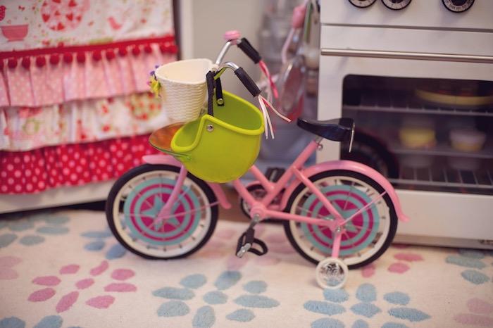 Doll Bike from an American Girl Doll Themed Birthday Party via Kara's Party Ideas! KarasPartyIdeas.com (46)