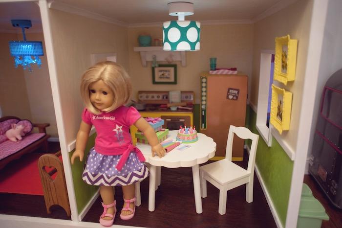 Doll House Kitchen from an American Girl Doll Themed Birthday Party via Kara's Party Ideas! KarasPartyIdeas.com (42)