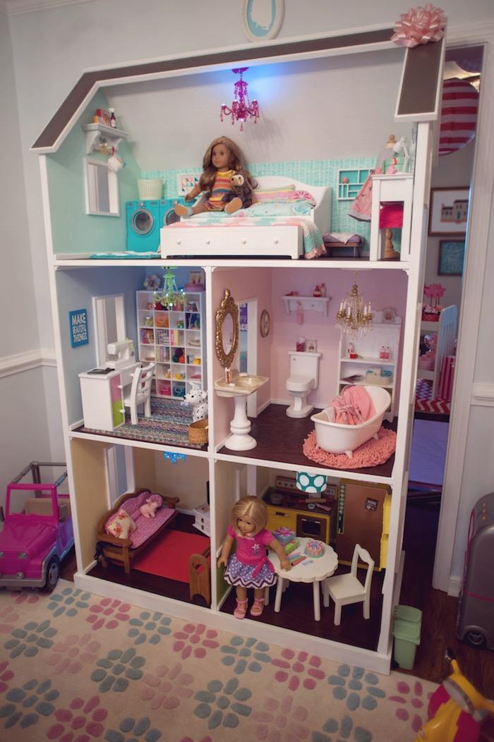 Doll House from an American Girl Doll Themed Birthday Party via Kara's Party Ideas! KarasPartyIdeas.com (40)