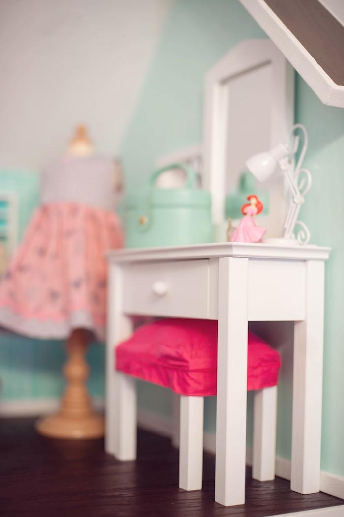 Doll House Detail from an American Girl Doll Themed Birthday Party via Kara's Party Ideas! KarasPartyIdeas.com (36)