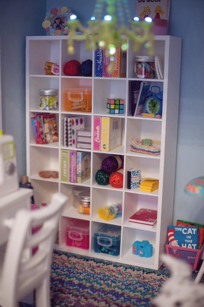 Doll House Detail from an American Girl Doll Themed Birthday Party via Kara's Party Ideas! KarasPartyIdeas.com (34)