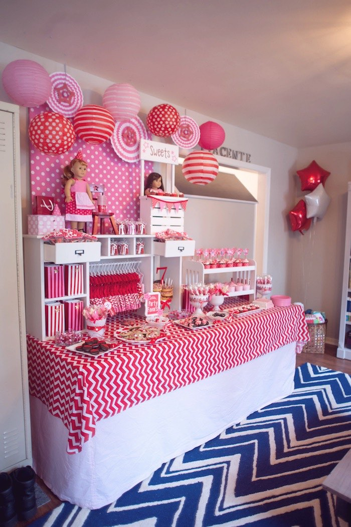 Dessert Table From An American Girl Doll Themed Birthday Party Via Karas Ideas KarasPartyIdeas