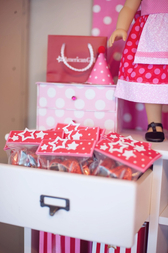 Favors From An American Girl Doll Themed Birthday Party Via Karas Ideas KarasPartyIdeas