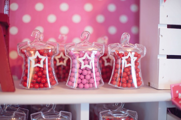 Plastic Shirt Form Candy Favors from an American Girl Doll Themed Birthday Party via Kara's Party Ideas! KarasPartyIdeas.com (26)