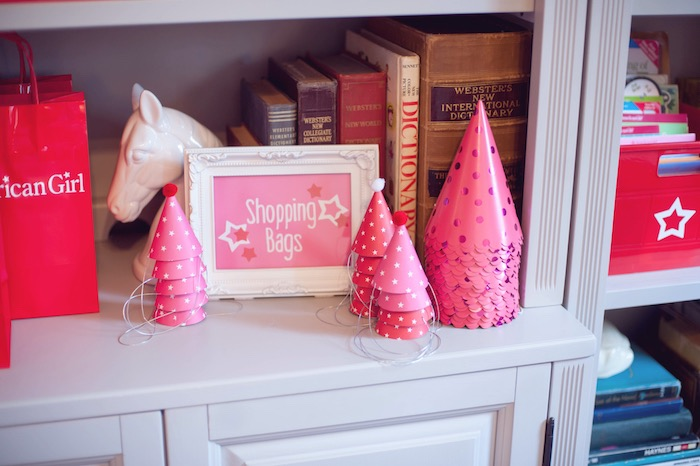 Party Hats from an American Girl Doll Themed Birthday Party via Kara's Party Ideas! KarasPartyIdeas.com (18)