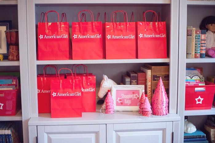 Favor Bags from an American Girl Doll Themed Birthday Party via Kara's Party Ideas! KarasPartyIdeas.com (17)