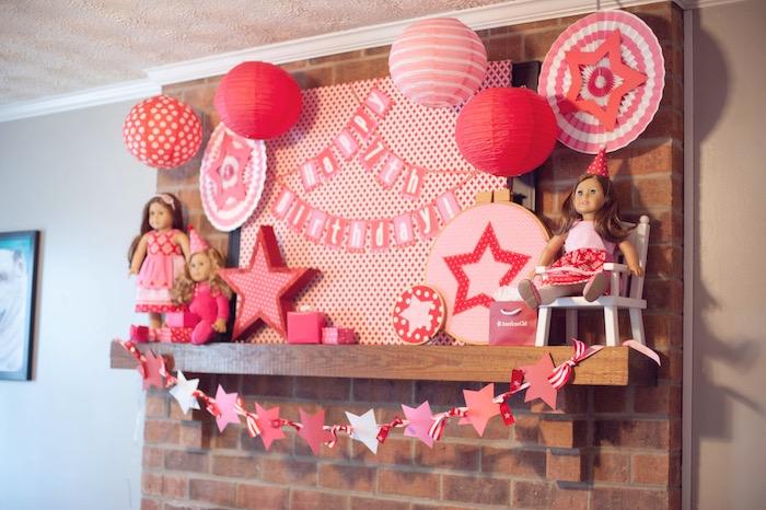 Display from an American Girl Doll Themed Birthday Party via Kara's Party Ideas! KarasPartyIdeas.com (14)