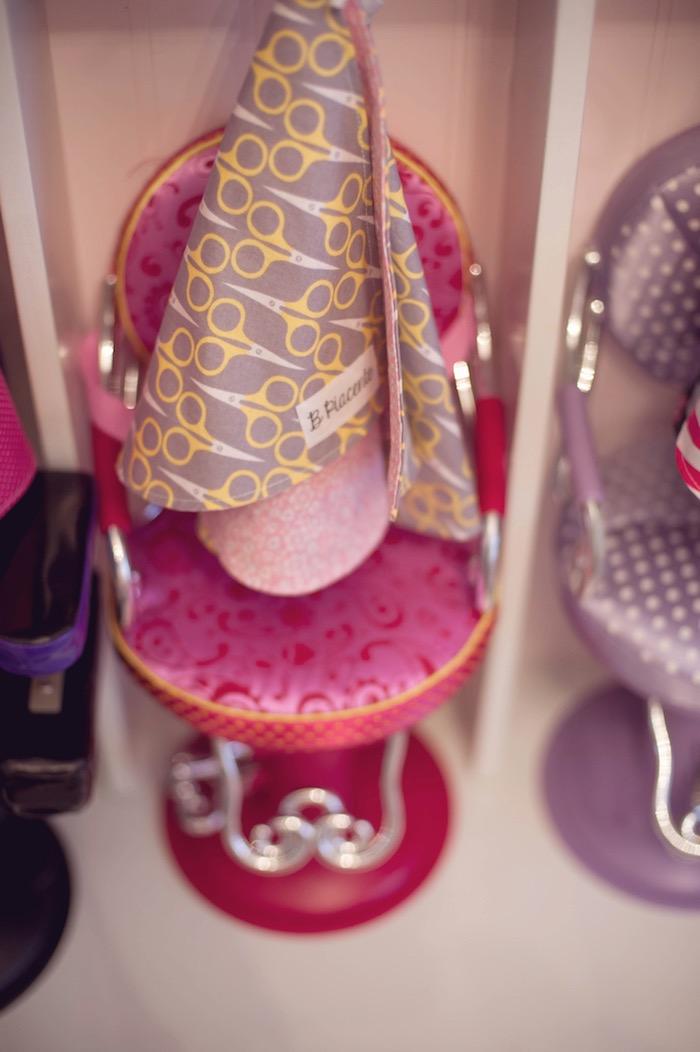 Doll Salon Chair from an American Girl Doll Themed Birthday Party via Kara's Party Ideas! KarasPartyIdeas.com (55)