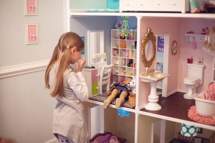 Dollhouse Playtime from an American Girl Doll Themed Birthday Party via Kara's Party Ideas! KarasPartyIdeas.com (6)