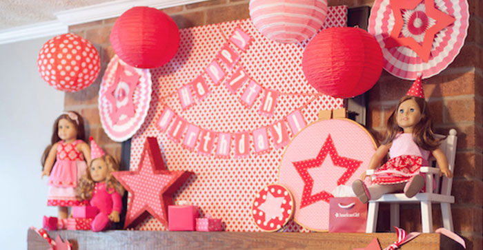 Display from an American Girl Doll Themed Birthday Party via Kara's Party Ideas! KarasPartyIdeas.com (2)