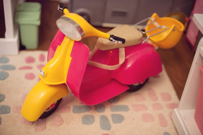 Doll Scooter from an American Girl Doll Themed Birthday Party via Kara's Party Ideas! KarasPartyIdeas.com (53)
