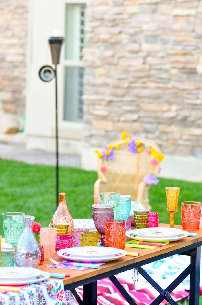 Backyard Boho Tiki Party by Kara's Party Ideas | Kara Allen | KarasPartyIdeas.com-18
