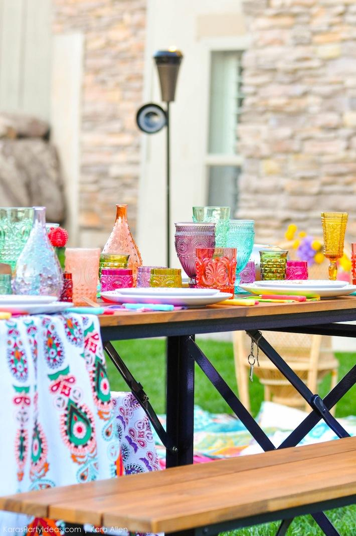 Backyard Boho Tiki Party by Kara's Party Ideas | Kara Allen | KarasPartyIdeas.com-20