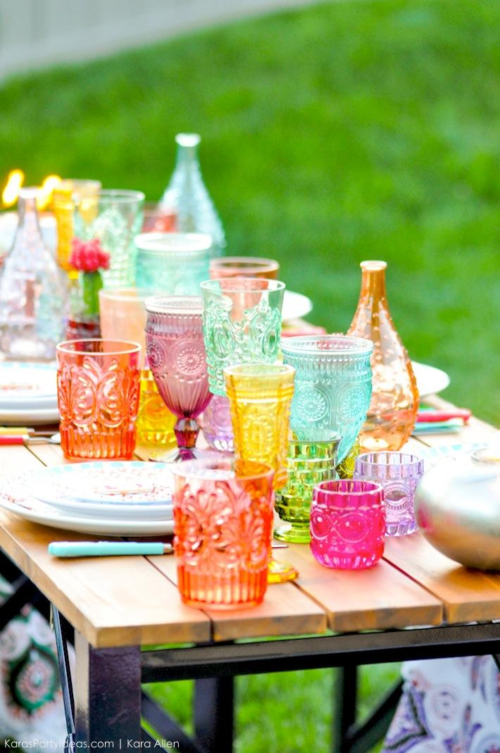 Boho Backyard Party :  Party Ideas Backyard Boho Party with TIKI Brand  Karas Party Ideas