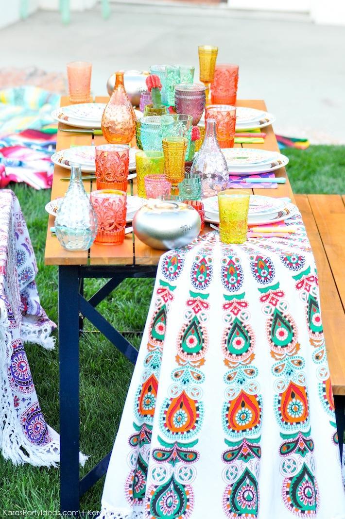 Kara's Party Ideas Backyard Boho Party with TIKI Brand ...