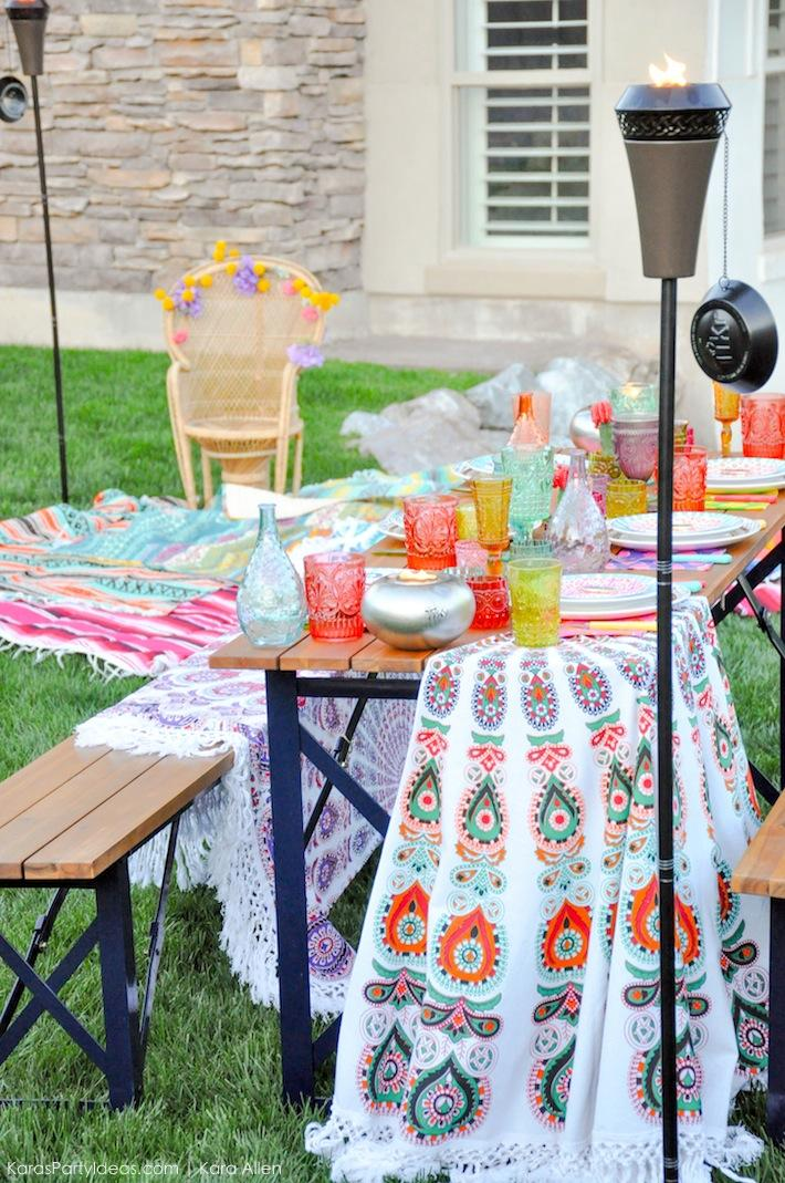 Backyard Boho Tiki Party by Kara's Party Ideas | Kara Allen | KarasPartyIdeas.com-34