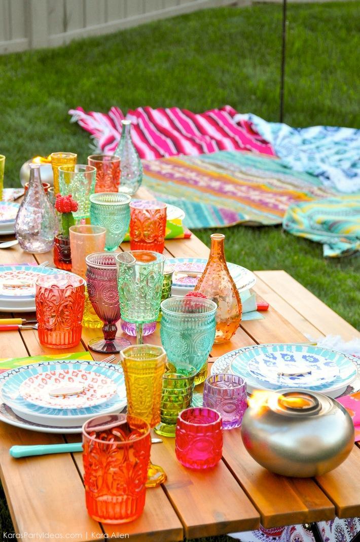 party ideas backyard boho party with tiki brand kara 39 s party ideas