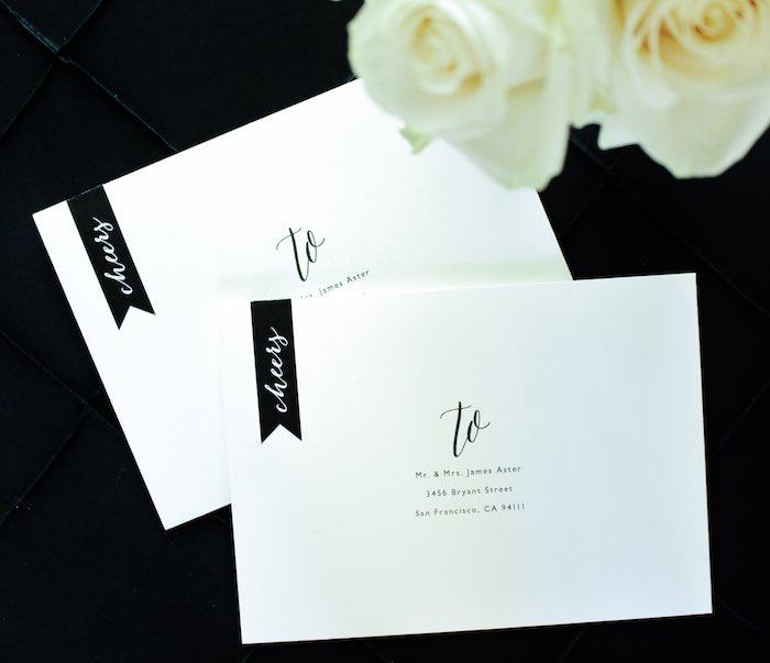 Kara\'s Party Ideas Black, White + Gold Graduation Party | Kara\'s ...