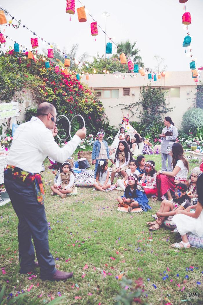 Magic Show from a Bohemian Gypsy Birthday Party via Kara's Party Ideas KarasPartyIdeas.com (8)