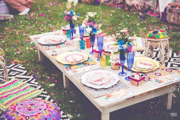 Guest Table from a Bohemian Gypsy Birthday Party via Kara's Party Ideas KarasPartyIdeas.com (5)