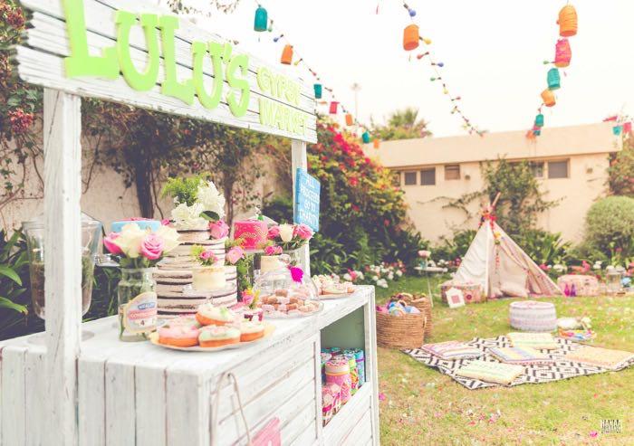 Kara's Party Ideas Bohemian Gypsy Birthday Party | Kara's Party Ideas