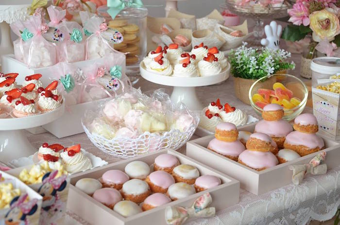 Sweets from a Boho Chic Minnie Mouse Birthday Party via Kara's Party Ideas KarasPartyIdeas.com (11)