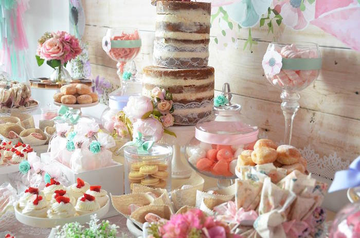 Sweet Table Details from a Boho Chic Minnie Mouse Birthday Party via Kara's Party Ideas KarasPartyIdeas.com (3)