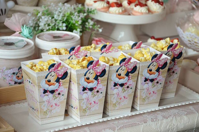 Popcorn Boxes from a Boho Chic Minnie Mouse Birthday Party via Kara's Party Ideas KarasPartyIdeas.com (28)
