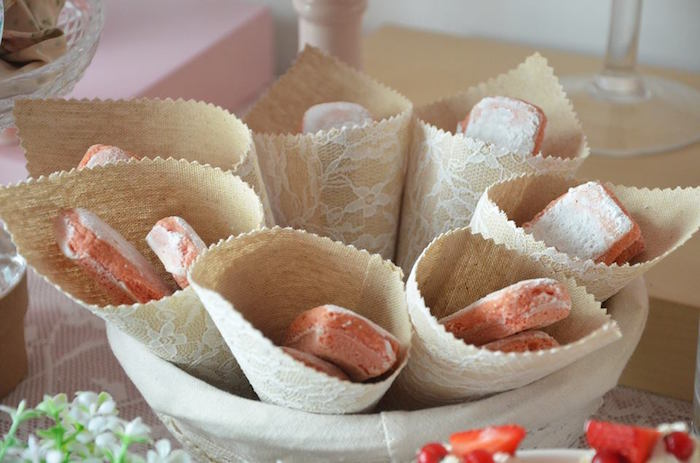 Burlap + Lace Favor Cones filled with Sweets from a Boho Chic Minnie Mouse Birthday Party via Kara's Party Ideas KarasPartyIdeas.com (26)