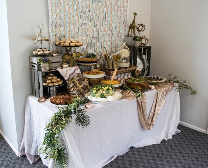 Dessert Table from a Boho Safari Baby Shower via Kara's Party Ideas | KarasPartyIdeas.com (12)