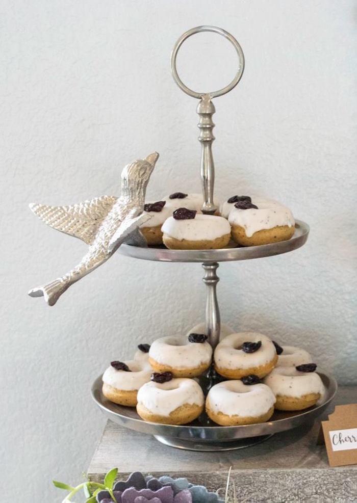 Frosted Doughnuts from a Boho Safari Baby Shower via Kara's Party Ideas | KarasPartyIdeas.com (11)