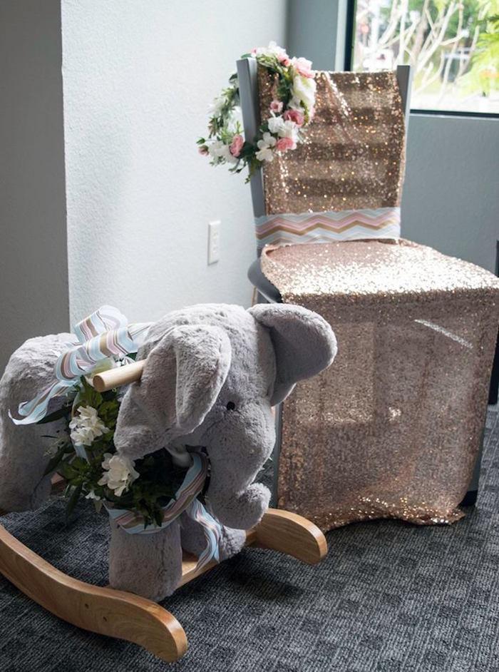 Mother's Chair Details from a Boho Safari Baby Shower via Kara's Party Ideas | KarasPartyIdeas.com (7)
