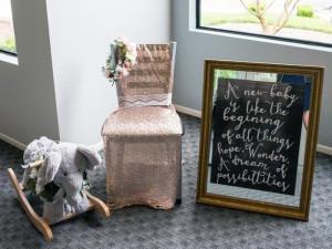 Mother's Chair + Area from a Boho Safari Baby Shower via Kara's Party Ideas | KarasPartyIdeas.com (6)