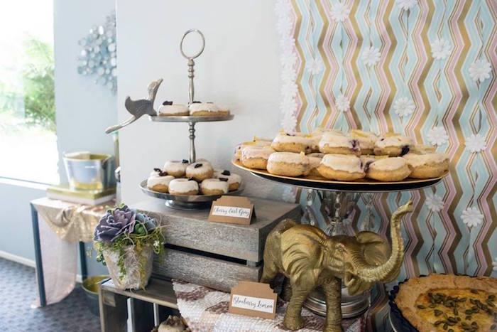 Sweet Table Details from a Boho Safari Baby Shower via Kara's Party Ideas | KarasPartyIdeas.com (4)