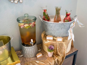 Drink Table from a Boho Safari Baby Shower via Kara's Party Ideas | KarasPartyIdeas.com (3)