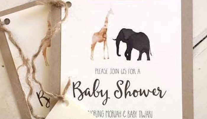 Invitation from a Boho Safari Baby Shower via Kara's Party Ideas | KarasPartyIdeas.com (1)