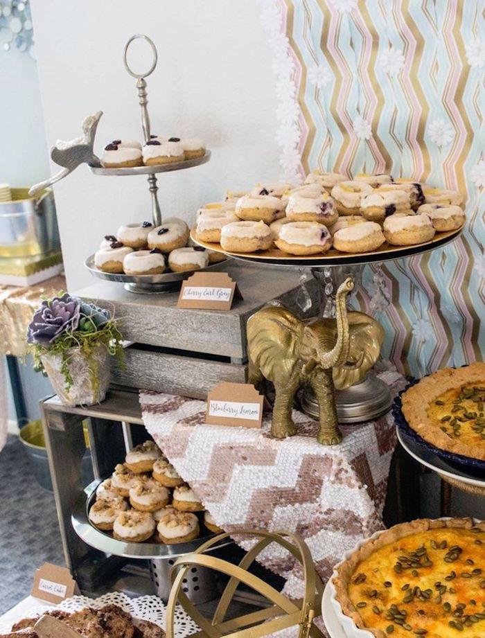 Sweets + Decor from a Boho Safari Baby Shower via Kara's Party Ideas | KarasPartyIdeas.com (20)