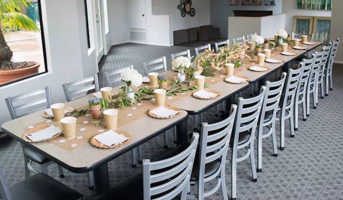 Dining Table from a Boho Safari Baby Shower via Kara's Party Ideas | KarasPartyIdeas.com (15)