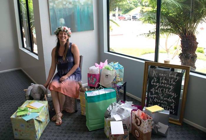 Mother-to-Be from a Boho Safari Baby Shower via Kara's Party Ideas | KarasPartyIdeas.com (14)
