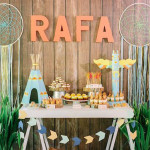 Dessert Table from a Camp Rafa - Pow Wow 1st Birthday Party via Kara's Party Ideas | KarasPartyIdeas.com (1)