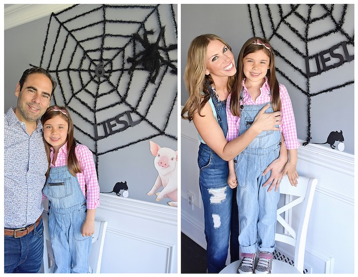 Web Photo Booth from a Charlotte's Web Inspired Birthday Party via Kara's Party Ideas | KarasPartyIdeas.com - The Place for All Things Party! (23)