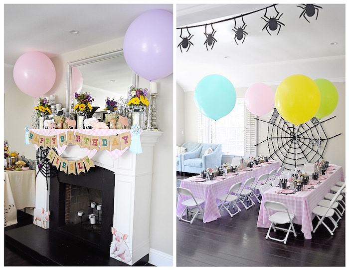 Partyscape + Details from a Charlotte's Web Inspired Birthday Party via Kara's Party Ideas | KarasPartyIdeas.com - The Place for All Things Party! (22)