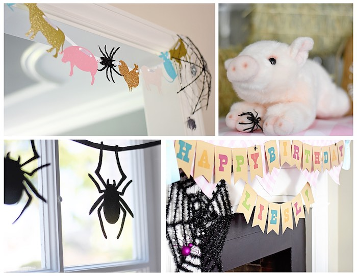 Kara S Party Ideas Charlotte S Web Inspired Birthday Party