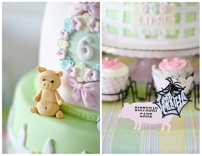 Cake Details + Label from a Charlotte's Web Inspired Birthday Party via Kara's Party Ideas | KarasPartyIdeas.com - The Place for All Things Party! (33)
