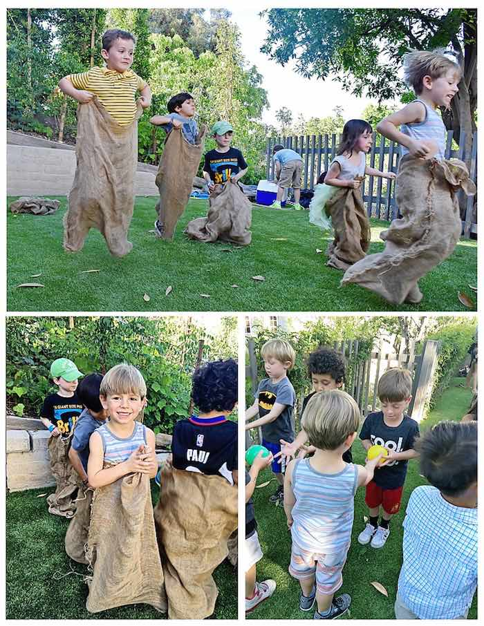 Sack Races from a Charlotte's Web Inspired Birthday Party via Kara's Party Ideas | KarasPartyIdeas.com - The Place for All Things Party! (4)