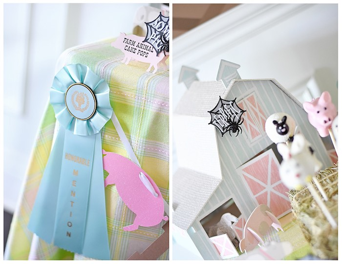 Decorations from a Charlotte's Web Inspired Birthday Party via Kara's Party Ideas | KarasPartyIdeas.com - The Place for All Things Party! (30)